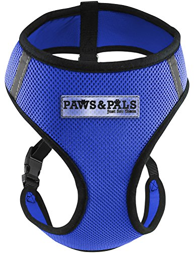 Paws & Pals Pet Control Harness for Dog & Cat Easy Soft Walking Collar, Large, Blue