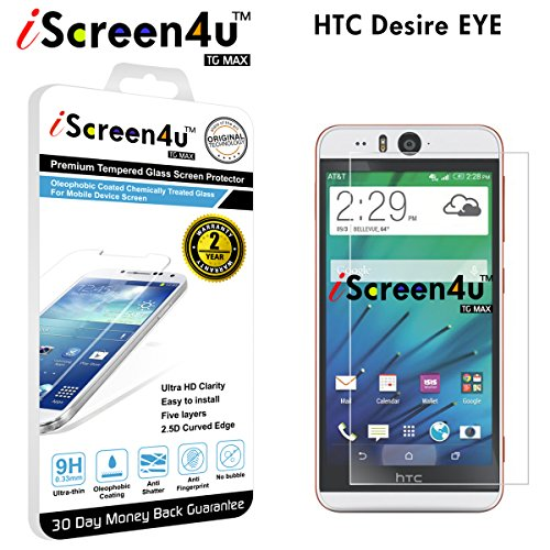 Tempered Glass Screen Protector for HTC Desire EYE - 2