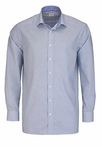 OLYMP Luxor comfort fit Hemd Langarm New Kent Kragen Muster dunkelblau