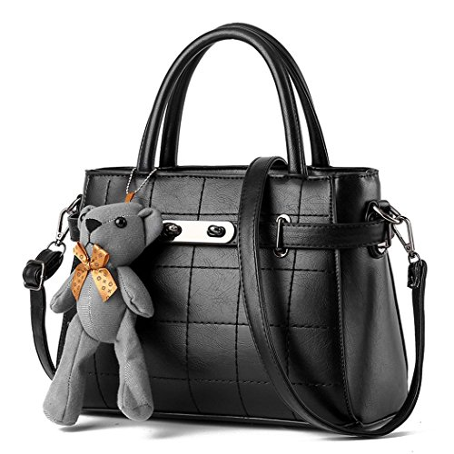 Ryse Womens Fashionable Exquisite Bear Ornaments Metal Buckle Handbag Shoulder - Lee Designer Mcqueen