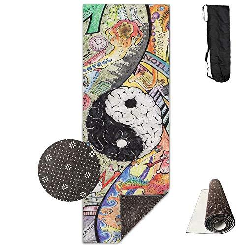 Tai Chi Brain Deluxe,Yoga Mat Aerobic Exercise Pilates Anti-Slip Gymnastics Mats (Taichi Depot)