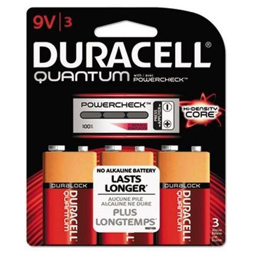 TopOne Duracell Quantum 9V Batteries w Duralock 3 PK 36pk Ctn DURQU9V3BCD