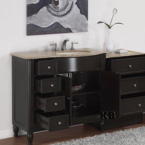 58 Bathroom Vanity Single Sink: 58″ Bathroom Single Sink Vanity Travertine Cabinet 902TR