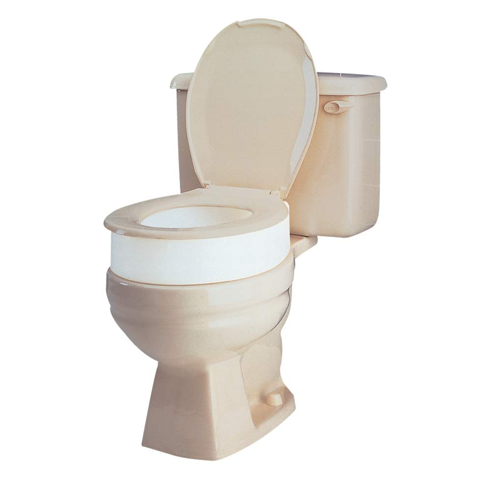 Carex Toilet Seat Riser, Elongated Raised Toilet Seat Adds 3.5 inches to Toilet Height, for Assistance Bending or Sitting, 300 Pound Weight Capacity by Carex
