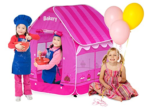 GigaTent Pop Up Kids Bakery Play Tent - Boys Girls Toys Indoor Outdoor Playhouse Camping Tent - Bright & Colorful, Easy Instant Assembly, Folds Flat - Includes Flat Storage Carry Bag