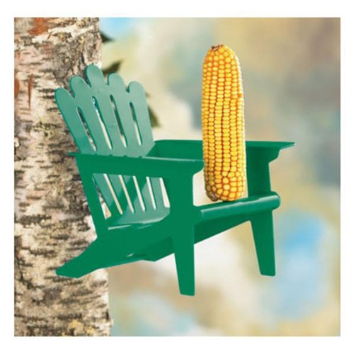 (Pet Belle Fleur Adirondack Chair Squirrel Feeder Color: Mint Green, Entertaining feeder for squirrels Supply Store/Shop)