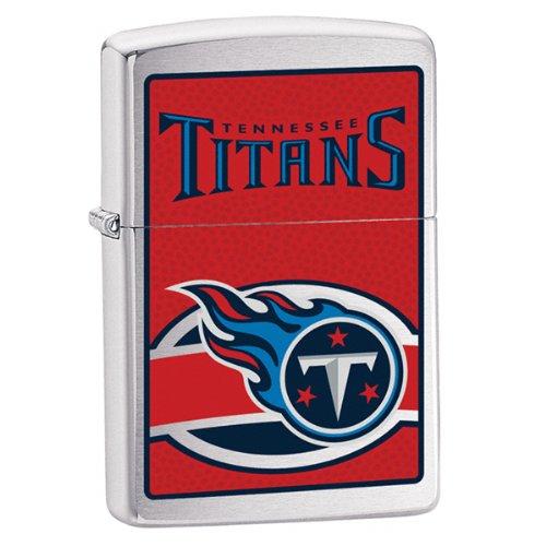 Zippo NFL Titans Lighter (Silver, 5 1/2 x 3 1/2 cm)