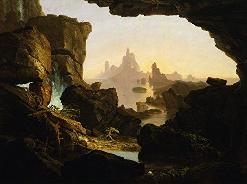 Home Comforts LAMINATED POSTER Painting Thomas Cole Oil On Canvas Nature Artistic Poster 24x16 Adhesive Decal (Thomas Cole Oil)