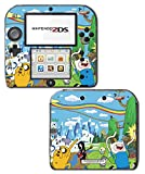 Adventure Time Jake Finn Princess Bubblegum Ice King BMO Beemo Marceline the Vampire Queen Video Game Vinyl Decal Skin Sticker Cover for Nintendo 2DS System Console