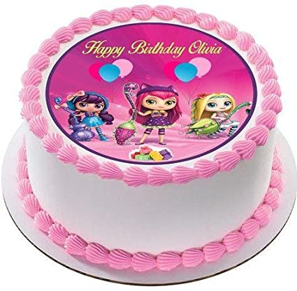 Amazon.com: Little Charmers Edible Birthday Cake OR Cupcake Topper ...