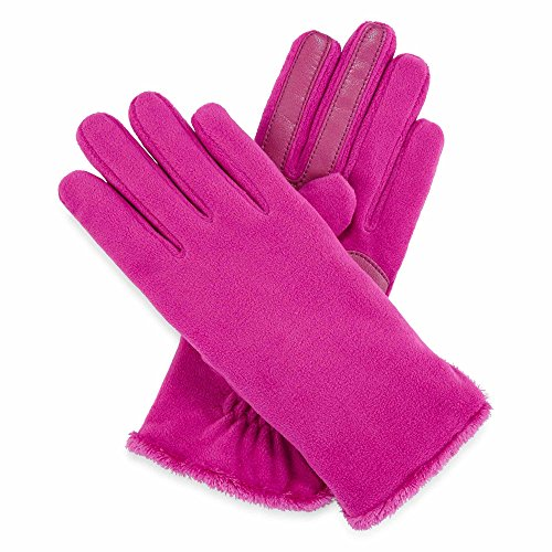 Isotoner Women's SmarTouch Microluxe Lined Stretch Fleece Gloves - Vivid Viola