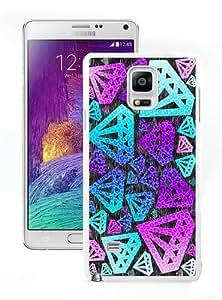 Unique Samsung Galaxy Note 4 Screen Case ,Popular And Durable Designed Case With Purple Diamond White Samsung Galaxy Note 4 High Quality Phone Case