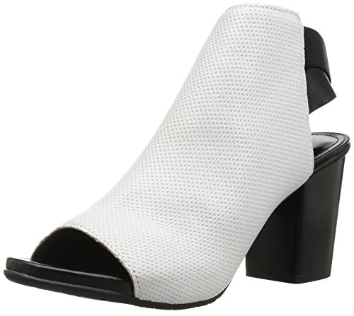 Kenneth Cole REACTION Women's Fridah Fly Toe and Open Heel Ankle Bootie Boot, White, 8 M US