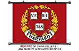 Harvard Crimson NCAA Fabric Wall Scroll Poster (32 x 24) Inches