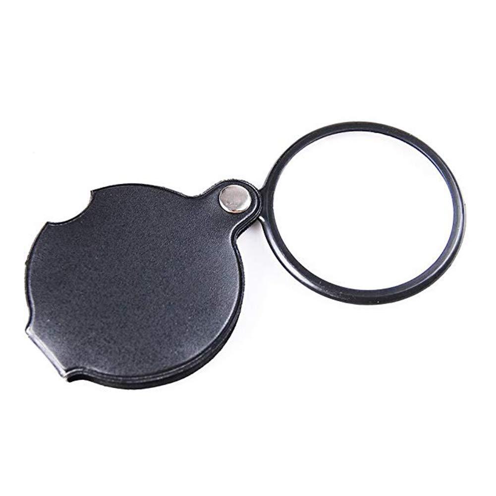 Lupa Plegable De Bolsillo De Lupa De De De 5 X 60 Mm Lupa De Bolsillo Spiegel Ayuda De Lectura Portátil Negro,Negro,147  65Mm 64efc5