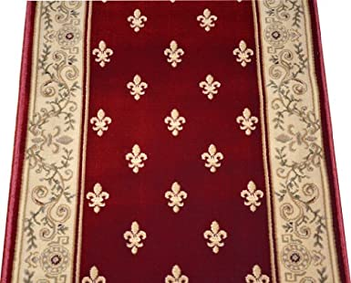 carpet stair runners by the foot best modern dean regal red carpet rug hallway stair runner purchase by the linear foot amazoncom