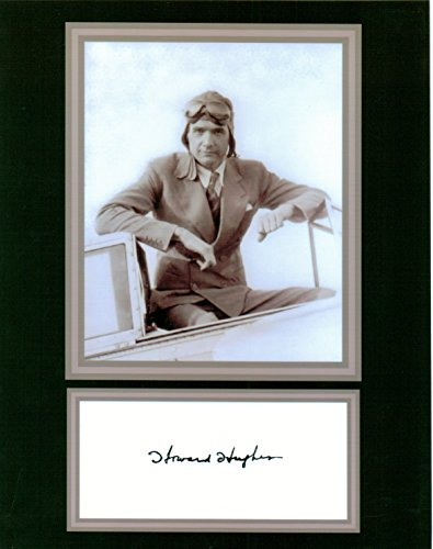 Howard Hughes Vintage 8 by 10 Autograph Photo Display on Glossy Photo Paper