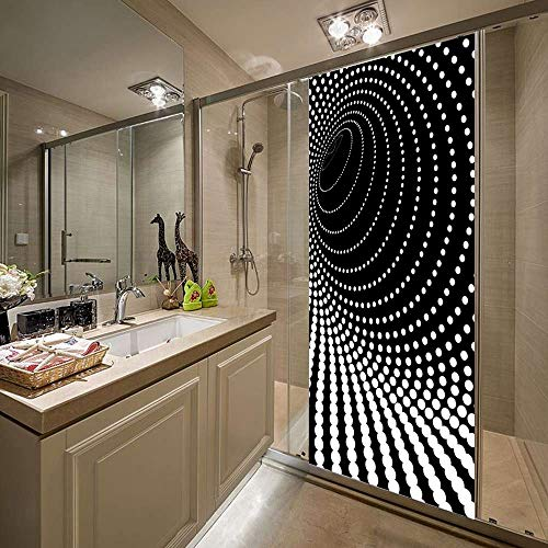 Wangkunpeng Wall Sticker 3D Dazzle Point Door Sticker DIY Home Decor Decals Self Adhesive Wallpaper Waterproof Mural for Bedroom Door Renovation
