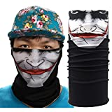 Ecosin Mask Neck Tube Ski Scarf Camouflage Cycling Motorcycle Cap Hats Full Party Face Mask (A)