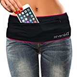 SevenBlu HIP - Fashion Money Belt / Extra Pocket / Running Belt - World's Best Stylish Travel Wallet or Mini Purse - with ZIPper - Fits iPhone 6 Plus - Your Smartphone Pocket (Fuschia XXL)