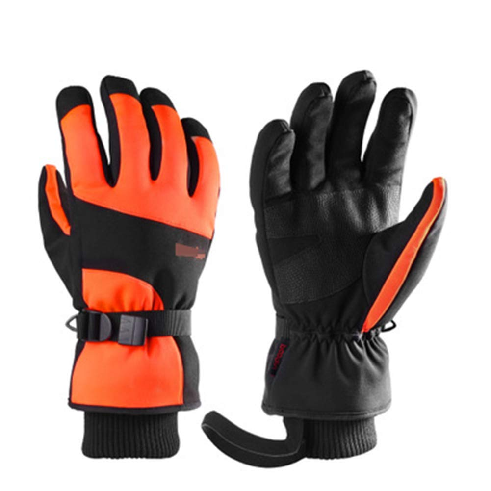 HuanXin-P623 Skihandschuhe mit kaltem und warmem Touchscreen und Langen Manschettenhandschuhe