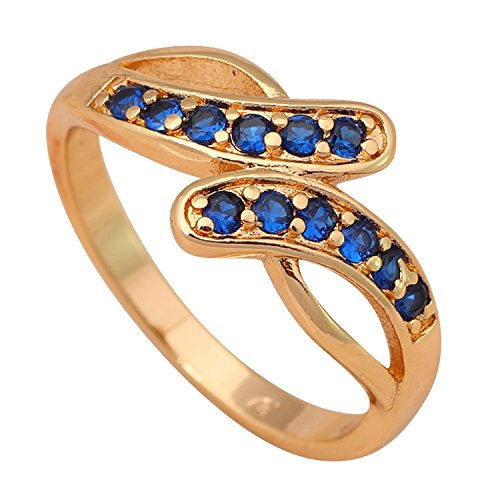 Slyq Jewelry Vanguard blue Gold Plated Fashion Jewelry Golden Element