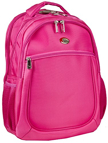 Light Moda Two - Ever Moda Solid Pink Computer Laptop Backpack