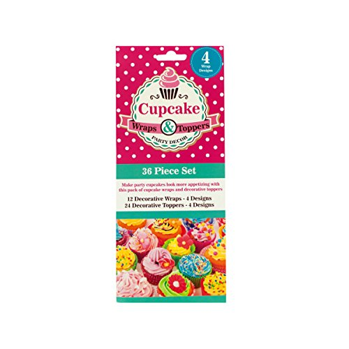 Bulk Buys Home Decorative Cupcake Wraps And Toppers Set Pack Of 24