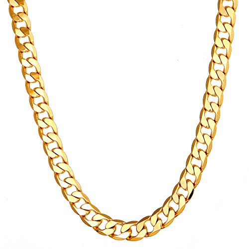 (Followmoon 18K Gold Plated Necklace Chain Mens)