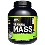 Best Optimum Nutrition, Serious Mass, High Protein Weight Gain Powder, Banana, 6 lbs (2.72 kg), Fit & Fresh, CleanTek, Shaker Cup with Ice Wand Agitator & Storage Cup, 1 Cup BUNDLE