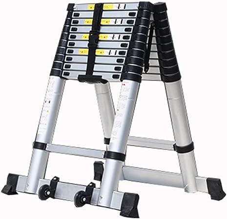 LJSJT Escalera Telescópica Escalera Tipo A Marco de aleación de Aluminio Robusto y Duradero 7 9 10 11 Escalera de 13 escalones Peso del rodamiento 150kg Múltiples tamaños (Tamaño : 2.6+2.6m): Amazon.es: Hogar
