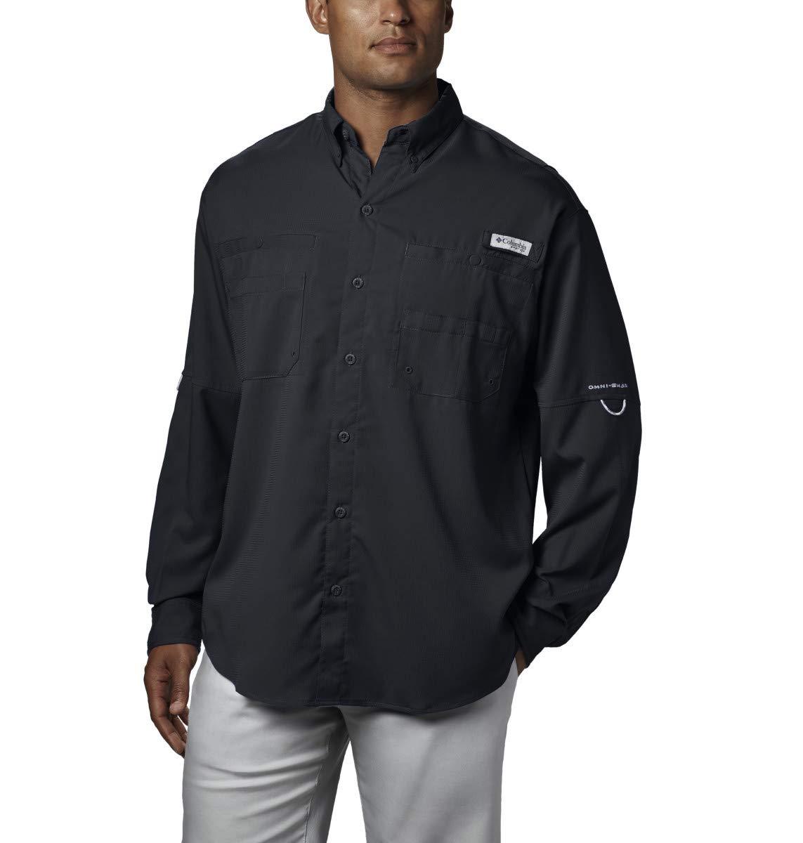 Columbia Men's PFG Tamiami II Long Sleeve Shirt - Big , Black, X-Small