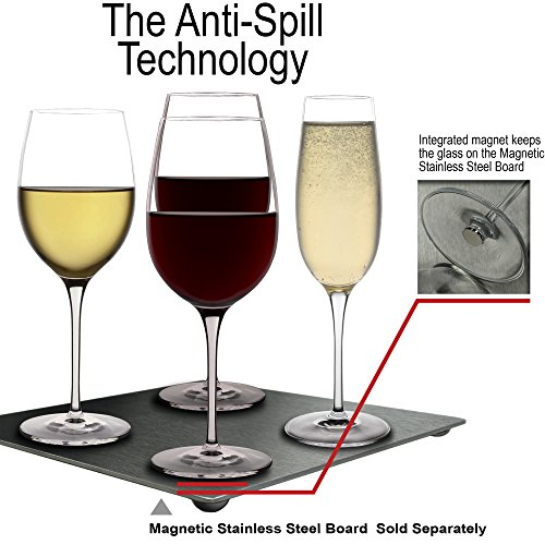 Anti spill wine glasses 4 white glasses for boat sailboat pontoon rv yacht spill proof 13 oz - Anti spill wine glass ...