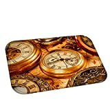 MG554zy0 Retro Compass Watch Map Soft Home Bathroom Anti-Slip Door Mat Table Rug Carpet Retro Compass Watch Map Soft Home 4#