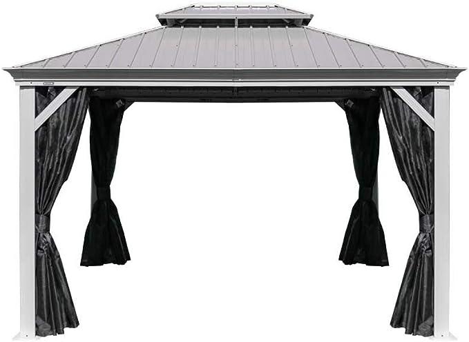 Sojag Messina - Carpa de acero para jardín (3 x 4 m, cubierta de aluminio y gasa, protección solar, resistente al agua, robusta, resistente a la intemperie, duradera): Amazon.es: Jardín