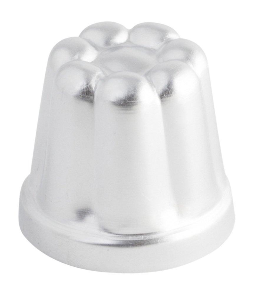 Silver 6cm//2.4 OTT-1188006 Ottinetti French Canele Mold 6cm//2.4
