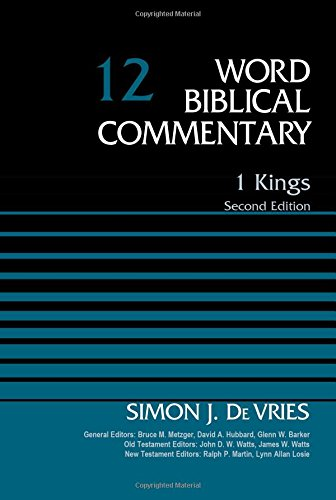 1 Kings, Volume 12: Second Edition (Word Biblical Commentary) PDF