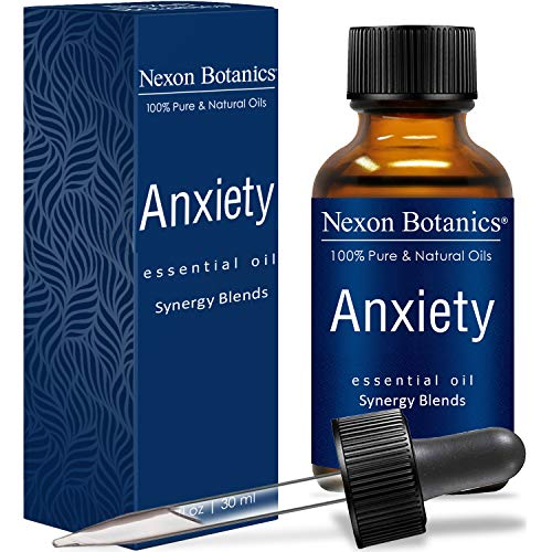 Nexon Botanics Anxiety Essential Oil Blend 30 ml - Stress Away, Stress Relief Essential Oil - Relaxation, Calming Essential Oils - Can be Used for Aromatherapy Such as Diffuser