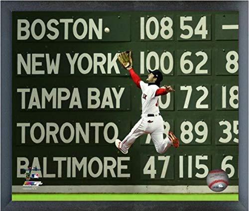 Size: 9 x 11 Framed Andrew Benintendi Boston Red Sox 2018 World Series Action Photo