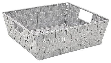 Woven Strap//Storage Organizer Chocolate 13x15x5 Kennedy international 25093-CHOCO Simplify Bins//Totes Medium Storage Baskets Lightweight