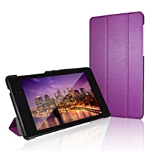 Nexus 7 Case, JETech® Gold Slim-Fit Smart Case Cover for Google Nexus 7 2013 Tablet w/Stand and Auto Sleep/Wake Function (Purple)