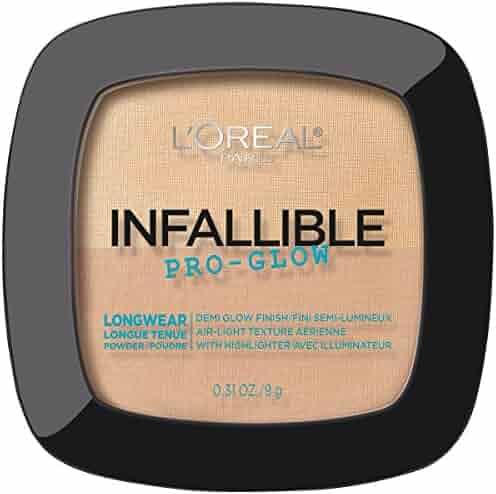L'Oréal Paris Infallible Pro Glow Pressed Powder, Natural Beige, 0.31 oz.