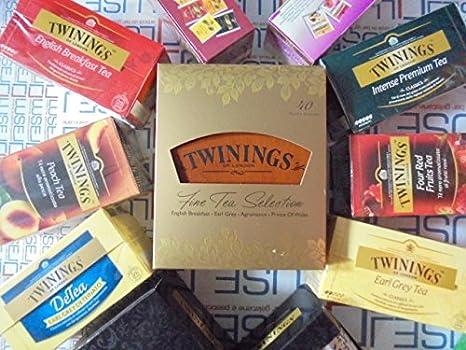 250 bolsitas de té Tisane Camomile Twinings caja de madera (4 compartimentos) EARL GREY TEA ENGLISH BREAKFAST INTENSE PREMIUM DETEINADO: Amazon.es: Alimentación y bebidas
