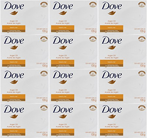 Dove Argan Oil Beauty Bar Soap, 4.75 Oz / 135 Gr (Pack of 12 Bars) ()