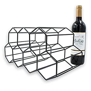 Metal Wine Rack Wine Storage System – Refrigerator or Bench Storage & Protection for Red Wine & White Wines Securely Stack 7 Bottle