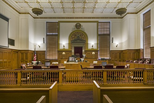 16 x 24 Art Canvas Wrapped Frame Giclee Print of Courtroom at the Texarkana U.S. Post Office and Federal Building 4130 Highsmith 05a