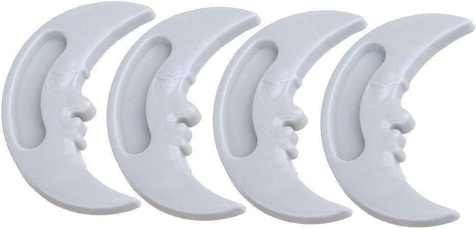 Kentop - Juego de 4 tiradores para puerta corredera (auto-adhesivos, para ventanas correderas, armarios, cristal) 7.3cm*3cm azul: Amazon.es: Hogar