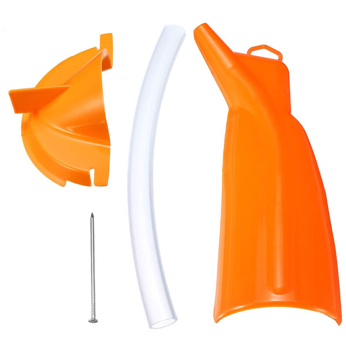 Wooya Moto Orange sans Goutte Filtre /À Huile Entonnoir Primaire Cas O Il Remplir Entonnoir pour Harley Sportster Softail Dyna Touring