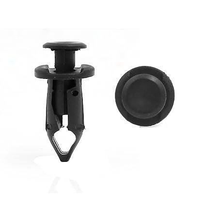 sourcing map 50Pcs Coche Embellecedor Moldura Forro Retenedor Clip Negro 15mm 9mm