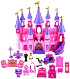 My Dream Castle 'Princess Wedding' Toy Doll Playset w/ Prince and Princess Figures, Horse Carriage, Castle Play House, Furniture, Accessories